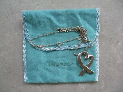 bb6399d32 Authentic TIFFANY & CO Paloma Picasso LOVING HEART Large Pendant 24