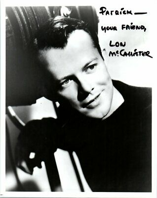 Autographed 8x10 Photo Lon McCallister Actor