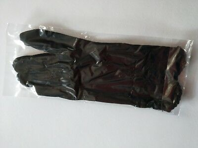 Black satin & silk feel gloves (brand new pair)