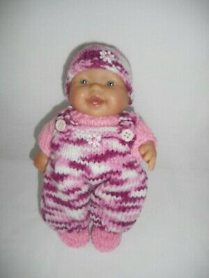 Hand knitted dolls clothes (Winter Set) to fit 20cm, 8 inch Berenguer doll
