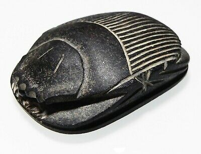 ZURQIEH -as12654- ANCIENT EGYPT, LARGE STONE HEART SCARAB. 600 - 30 B.C