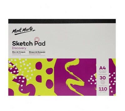 Mont Marte Discovery Sketch Pad White Paper A4 110gsm 30 Sheet