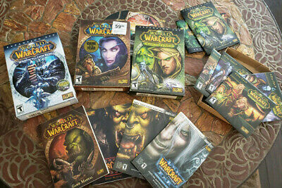 Lot of 3 = World of Warcraft WOW RPG Game, expansions, guides, pass keys