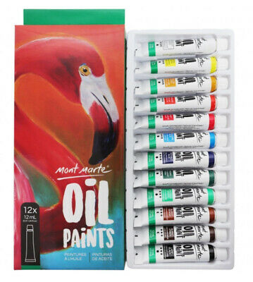 Mont Marte Paint Set - Oil Paint 12pc x 12ml