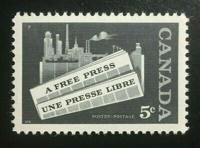 Canada #375 MNH, Newspaper Industry - A Free Press Stamp 1958