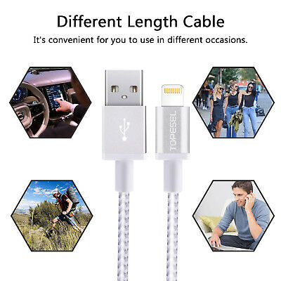 3FT Apple Lightning Sync 1M Charger USB Data Cable For iPhone X 8+ 7 iPad Air