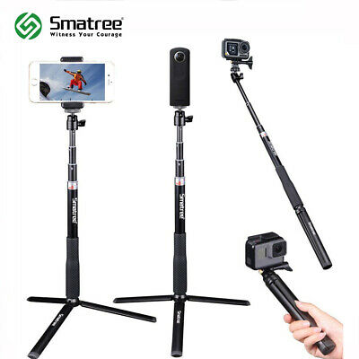Smatree Telescoping Selfie Stick with Tripod Stand for DJI Osmo Action Cameras