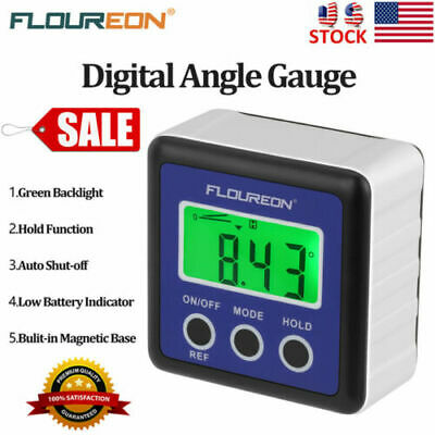 Waterproof Digital Bevel Box Gauge Angle Finder Meter Protractor Goniometer Bag