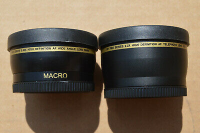 XIT Pro Series 0.43x Macro Wide Angle and 2.2x Telephoto Lens Adapter Kit 58mm