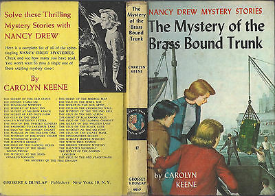 Nancy Drew #17 Brass Bound Trunk 1962A-45 1St Picture Cover 1St Revised Cover