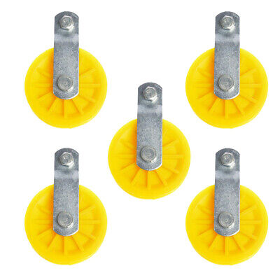Perfeclan 5pcs Pulley Block With Nylon Sheave Removable Pin Stainless Steel