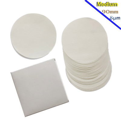 100x 8um Fiber-cellulose Filter Paper Qualitative Chemical Analysis Filtration