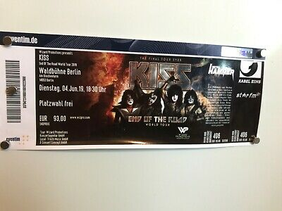 KISS Ticket - End of the Road Tour - 04.06.2019 - Berlin