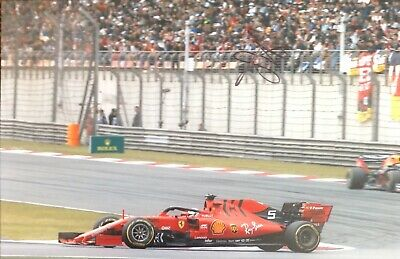 Sebastian Vettel Authentic Signed 2019 F1 12X8 Photo Aftal#198