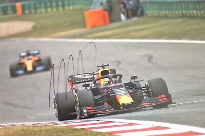 Max Verstappen Authentic Signed 2019 F1 12X8 Photo Aftal#198