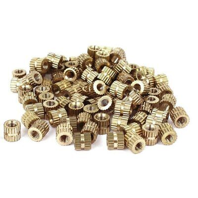 Metric Threaded Brass Knurl Round Insert Nuts 5mm x 5.3mm, M3, Inner 3mm. 0262