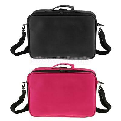 Pro Makeup Cosmetic Artist Organizer Box Travel Train Case Toiletry Shoulder Bag
