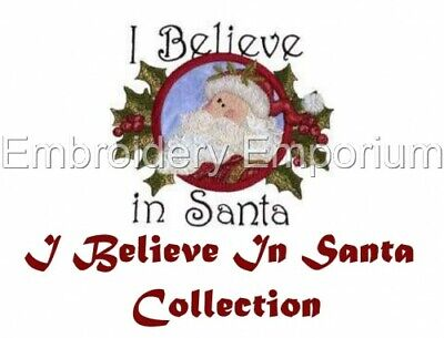 I Believe In Santa Collection - Machine Embroidery Designs On Cd Or Usb