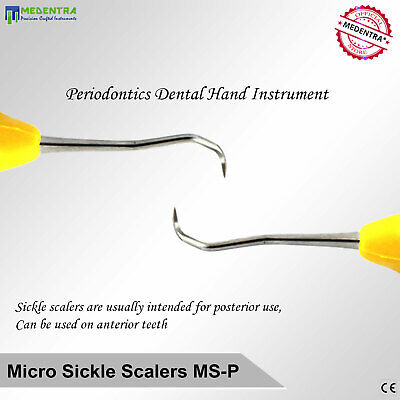 Dentist Micro Sickle Scaler Ms-P Calculus Perio Scalers Silicone Coated Handle