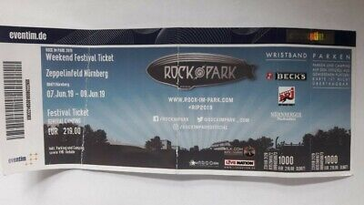 Tickets - Rock Im Park 2019 - 3 Tages Wochenendticket + General Camping
