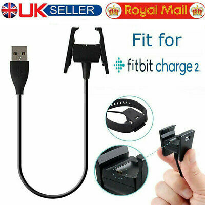 2x USB Charging Cable Charger Lead for Fitbit CHARGE 2 Fitness Tracker Wristband