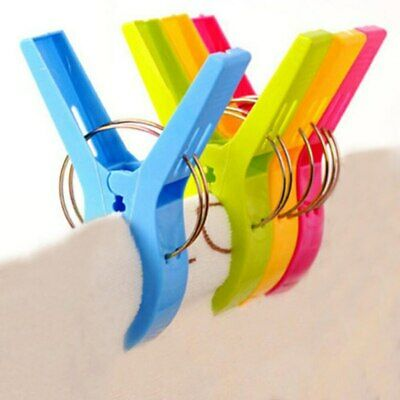 4/8Pcs Beach Towel Clips ABS Quilt Pegs for Laundry Sunbed Lounger Clothes Pegs