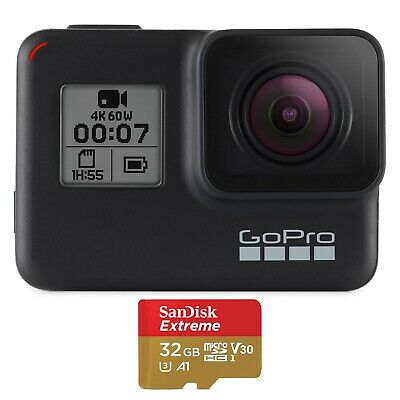 GoPro HERO7 Black Camera PLUS Bonus SD Card