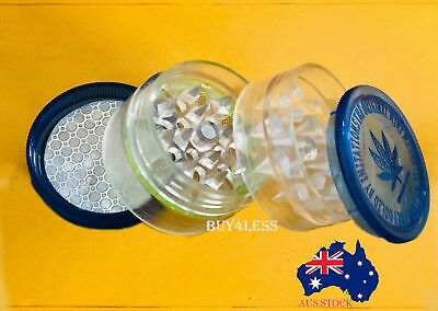 NEW 4 Layers Plastic Tobacco herb Grinder Smoke Accessory