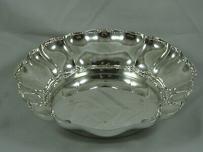 STYLISH solid silver FRUIT BOWL, 1972, 429gm