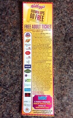 Adult ticket voucher Alton Towers Chessington Legoland Thorpe Park etc