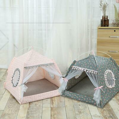 Pet Dog Cat Tent Bed Folding House Puppy Kitty Washable Nest Detachable Kennel