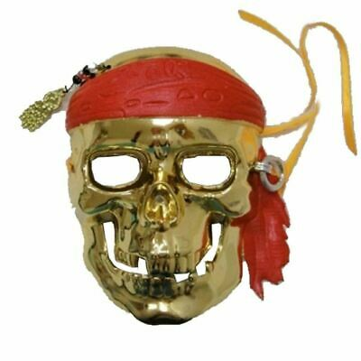 Day of The Dead Gold Pirate Skeleton Mask Halloween Masquerade Party Costume