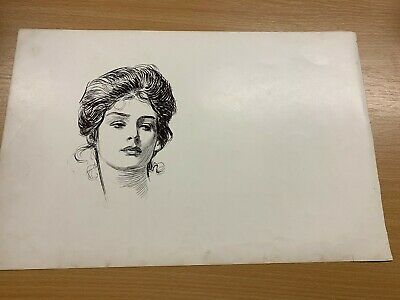 1902 Charles Dana Gibson Antique Large Double-Sided Print Gibson Girl #30