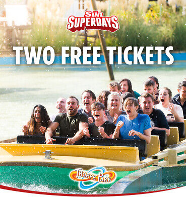 2 x THORPE PARK TICKETS ALL 9 CODES TO PICK YOUR OWN DATES WITH SUN SAVERS £9.99