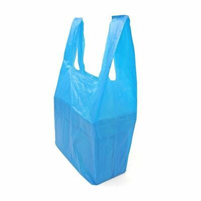"NEW JUMBO XXL Extra Strong BLUE Vest Carrier Bags Supermarket Style 12""x18""x24"""