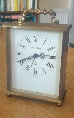 Vintage French Brass Armand Leroy 8 Day Alarm Hand-Winding Carriage Clock