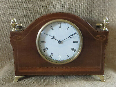 An Edwardian Swiss Drum Mantle Clock