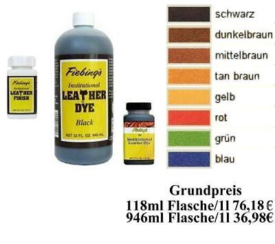 Fiebings Institutional Leather Dye Colors nicht entflammbare Lederfarbe 118mlNEU