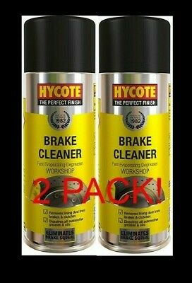 2 x Hycote Brake Cleaner Spray Cans Large Aerosol High Quality Clean600ml 2PACK!