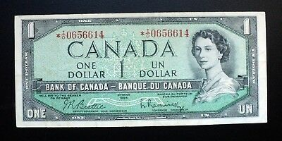 1954 BANK OF CANADA $1 Dollar Rare Replacement Note *I/O 0656614 BC-37bA