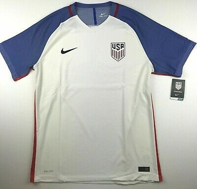 52701febed0 Nike Mens XL USA Home Soccer Jersey Dri-Fit White Vapor Match Top NWT $165