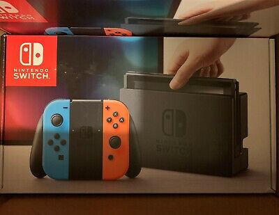 Nintendo Switch 32GB Console with Neon Blue and Neon Red Joy-Con, NIB FAST SHIP