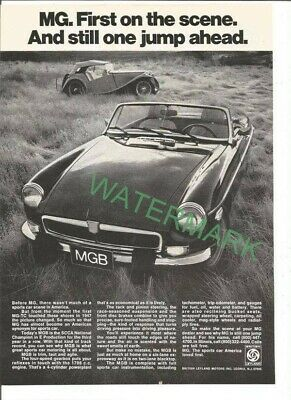 A magazine print ad for the 1974 MG MGB PUBLICITY PHOTO