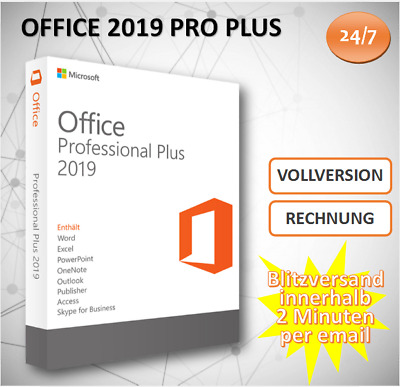 MS Office 2019 Professional Plus, Office 2019 PP 32&64 Bits Produktkey per email