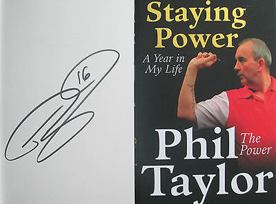 Phil Taylor-Signed Book-Staying Power-A Year In My Life-Darts