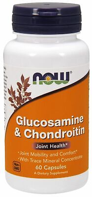 NOW Foods ~ Glucosamine & Chondroitin ~ Joint Health ~ 60 Capsules ~ EXP 6/2019