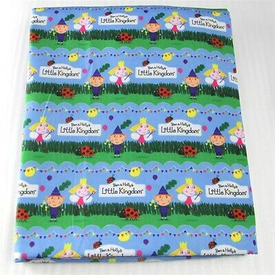 Ben and holly little kingdom #1 Crafts Printed Polycotton blend fabric 50*145cm