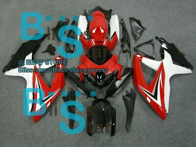 White Red GSXR750 Fairing For SUZUKI GSX-R600 GSX-R750 2008-2010 33 B7