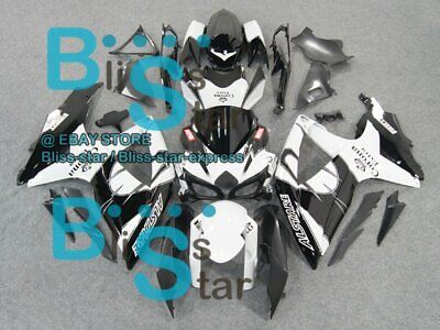 White Black GSXR750 Fairing For SUZUKI GSX-R600 GSX-R750 2008-2010 14 B7