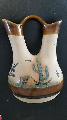 Vintage  Pottery Ceremonial Wedding Vase Signed  Betty Selby # 35